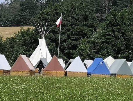 Promítání fotek z tábora
